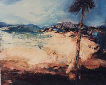 Beach, Tresco - a painting by Derek Menary