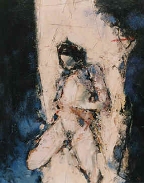 Nude, Mary Magdalene - a painting by Derek Menary