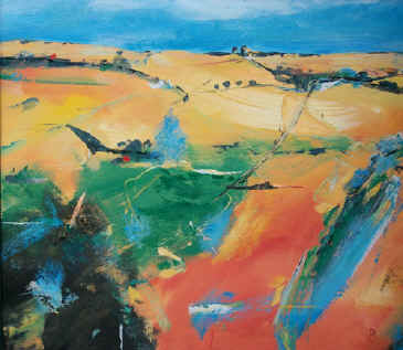 Autumn Fields 1 - a painting by Derek Menary